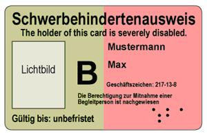 Grad der Behinderung (GdB)